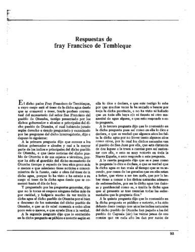 Respuestas de fray Francisco de Tembleque