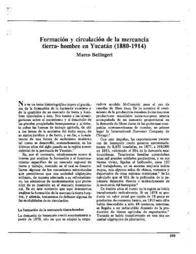 Formación y circulación de la mercancía tierra-hombre en Yucatán (1880-1914)