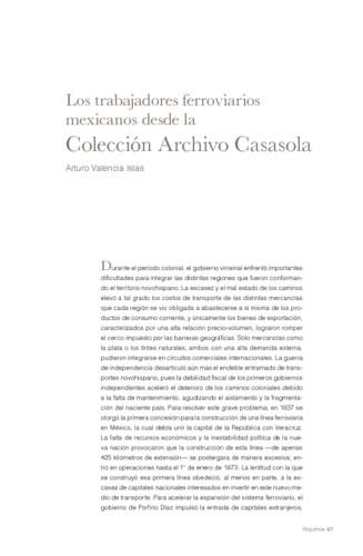 Los trabajadores ferroviarios mexicanos desde la Colección Archivo Casasola