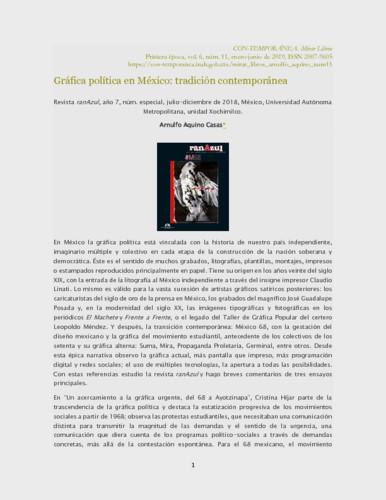Gráfica política en México: tradición contemporánea