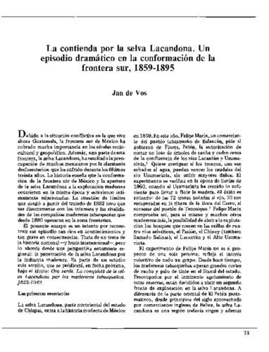 La contienda por la selva Lacandona. Un episodio dramático en la conformación de la frontera sur, 1859-1895