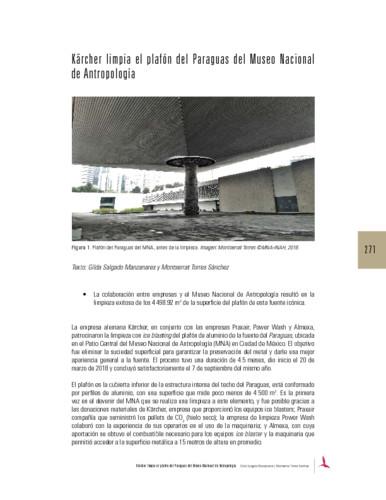 Kärcher limpia el plafón del Paraguas del Museo Nacional de Antropología
