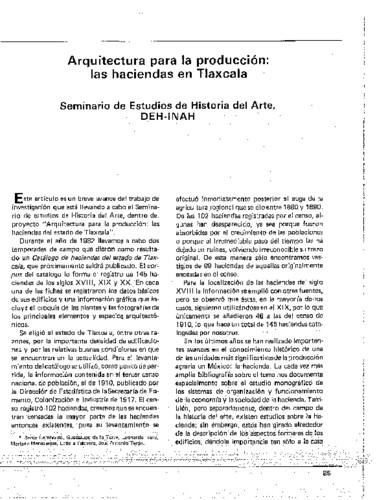 Arquitectura para la producción: las haciendas de Tlaxcala