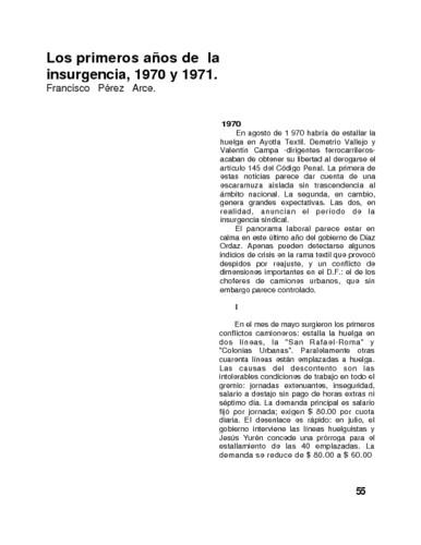 Los primeros años de la insurgencia, 1970 y 1971