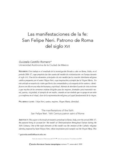 Las manifestaciones de la fe: San Felipe Neri. Patrono de Roma del siglo XVI