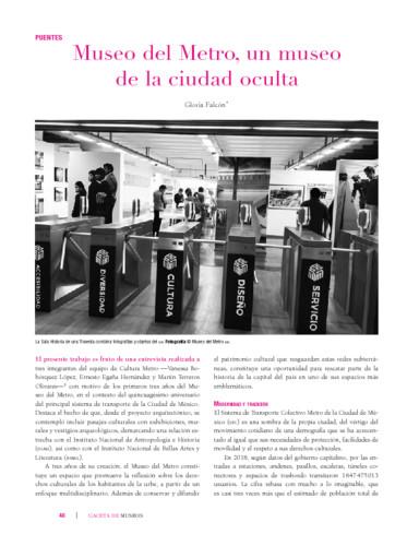 Museo del Metro, un museo de la ciudad oculta