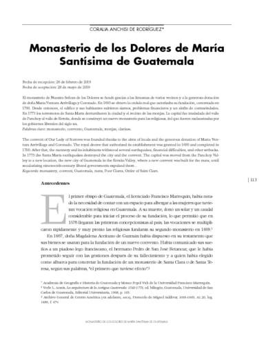 Monasterio de los Dolores de María Santísima de Guatemala