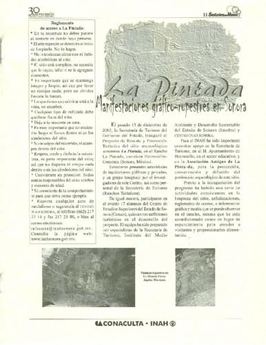 La Pintada, manifestaciones gráfico rupestres en Sonora