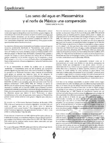 Los seres del agua en Mesoamérica y el norte de México: una comparación