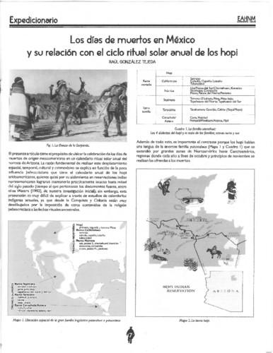Los días de  muertos en México y su relación con el ciclo ritual solar anual de los hopi