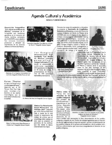Agenda Cultiral y Académica