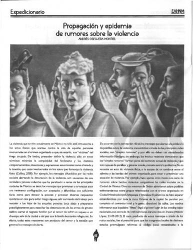 Propagación y epidemia de rumores sobre la violencia