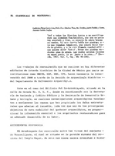 El Cuauhxicalli de Moctezuma I