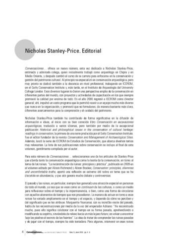 Nicholas Stanley-Price. Editorial