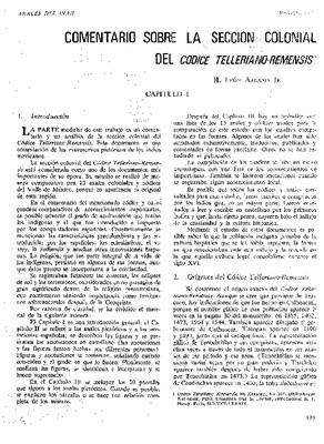 Comentario sobre la sección colonial del Códice Telleriano-Remensis.