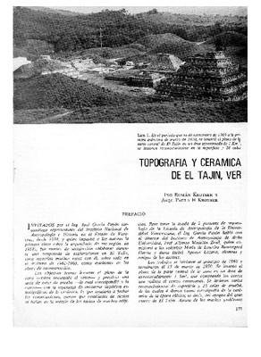 Topografía y cerámica de El Tajín, Ver.