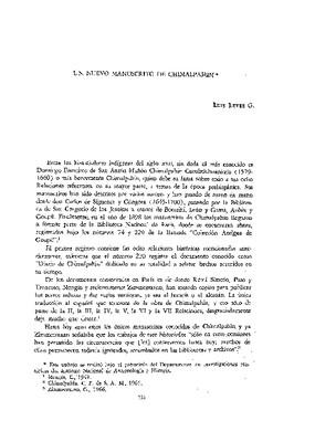 Un nuevo manuscrito de Chimalpahin.
