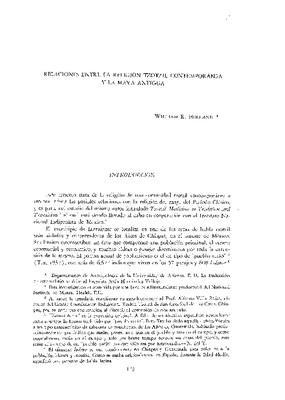 Relaciones entre la región tzotzil contemporánea y la maya antigua.