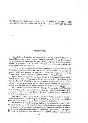 Información general del Instituto Nacional de Antropología e Historia durante el año de 1955.
