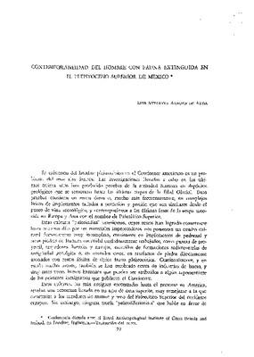 Contemporaneidad del hombre con fauna extinguida en el pleistoceno superior de México.