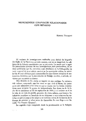 Monumentos coloniales relacionados con Hidalgo.