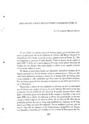 Estudio del Códice Mixteco post-cortesiano núm. 36.