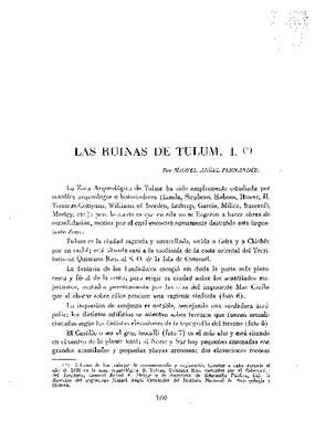 Las ruinas de Tulum I.