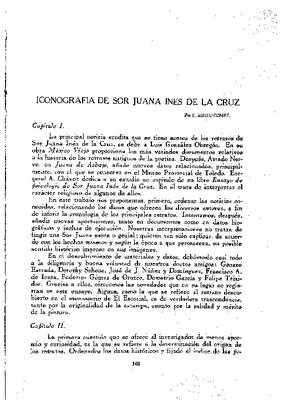 Iconografía de sor Juana Inés de la Cruz.
