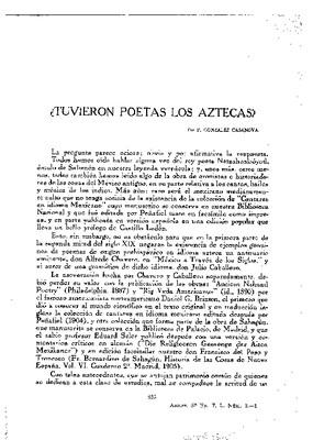 ¿Tuvieron poetas los aztecas?