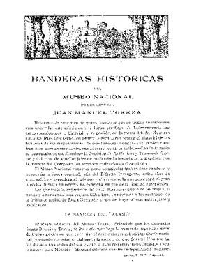 Banderas históricas del Museo Nacional.