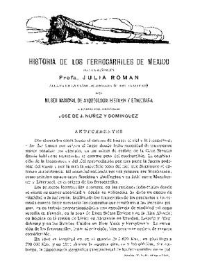 Historia de los ferrocarriles de México.