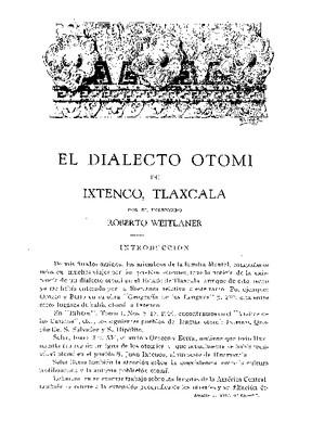El dialecto otomí de Ixtenco, Tlaxcala.