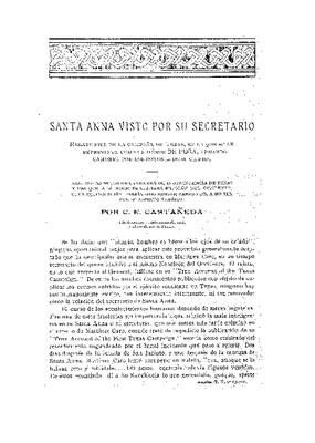Santa Anna visto por su secretario: relato fiel de la campaña de Texas.