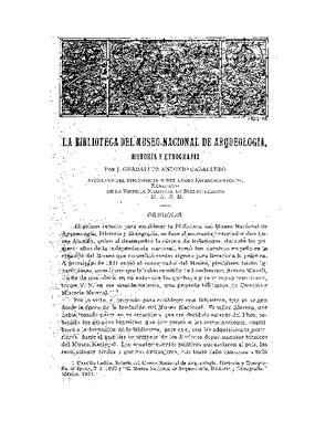 La Biblioteca del Museo Nacional de Arqueología, Historia y Etnografía.