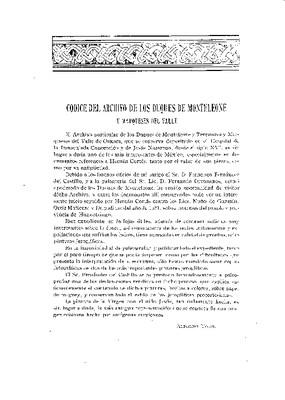 Códice del archivo de los Duques de Monteleone y Terranova y Marqueses del valle de Oaxaca.