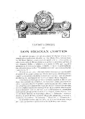 La carta cifrada de don Hernán Cortés