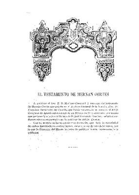 El testamento de Hernán Cortés