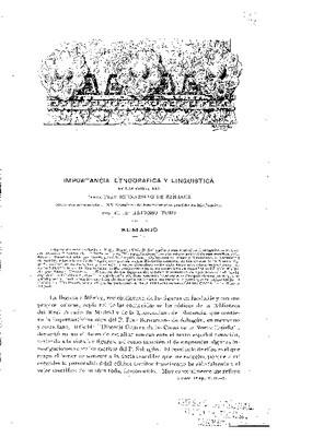 Importancia etnográfica y lingüística de las obras del padre fray Bernardino de Sahagún.