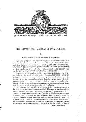 Organización social actual de los zapotecos.