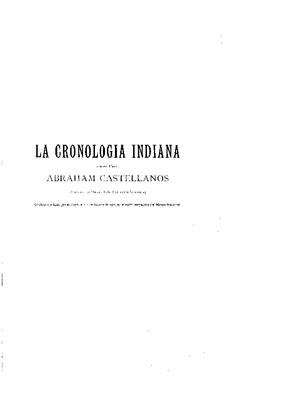 La cronología indiana.