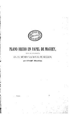 Plano hecho en papel de maguey, que se conserva en el Museo Nacional de México.