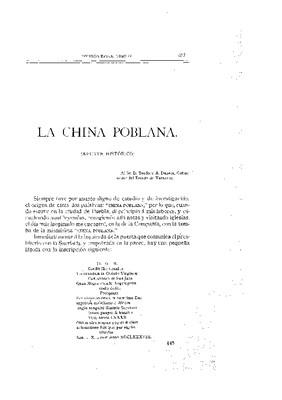 La china poblana. Apuntes históricos.