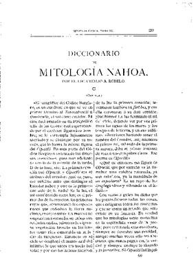 Diccionario de mitología nahoa.