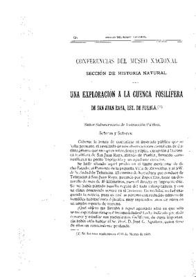 Una exploración a la cuenca fosilífera de San Juan Raya, estado de Puebla.