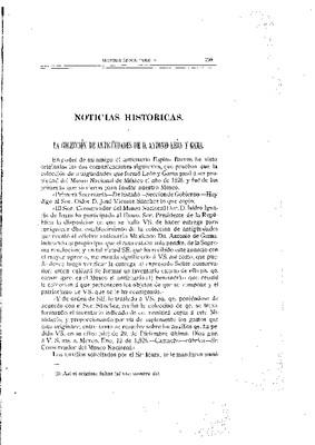La colección de antigüedades de don Antonio León y Gama.