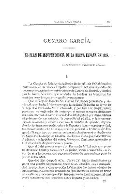 El Plan de Independencia de la Nueva España en 1808.