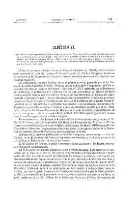 Libro Primero. Capítulo VI.- Publicación fotocromolitográfica del Códice Borgiano