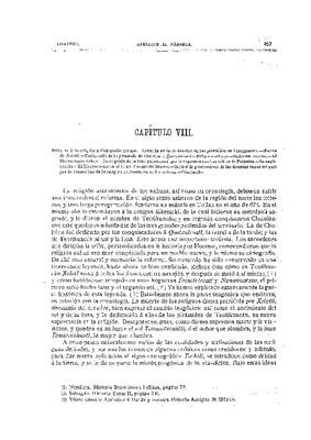 Libro Segundo. Capítulo VIII.- Reforma de la Religión y ciclografía nahuas