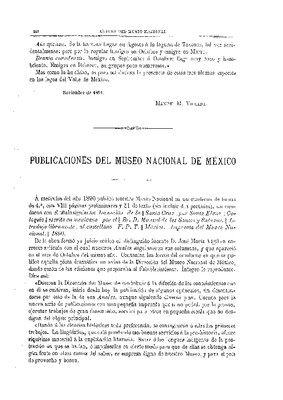 Publicaciones del Museo Nacional de México.