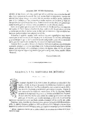 Sahagún y su historia de México.